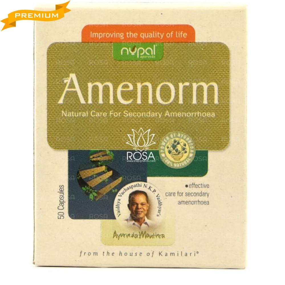 Аменорм (Amenorm, Nupal Remedies), 50 капсул - Аюрведа премиум, для успешного лечения вторичной аменореи
