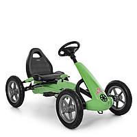 Детский педальный карт на надувных колесах Bambi M 4120-5 зеленый