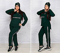 Модный женский спортивный костюм-тройка батал, фото 1