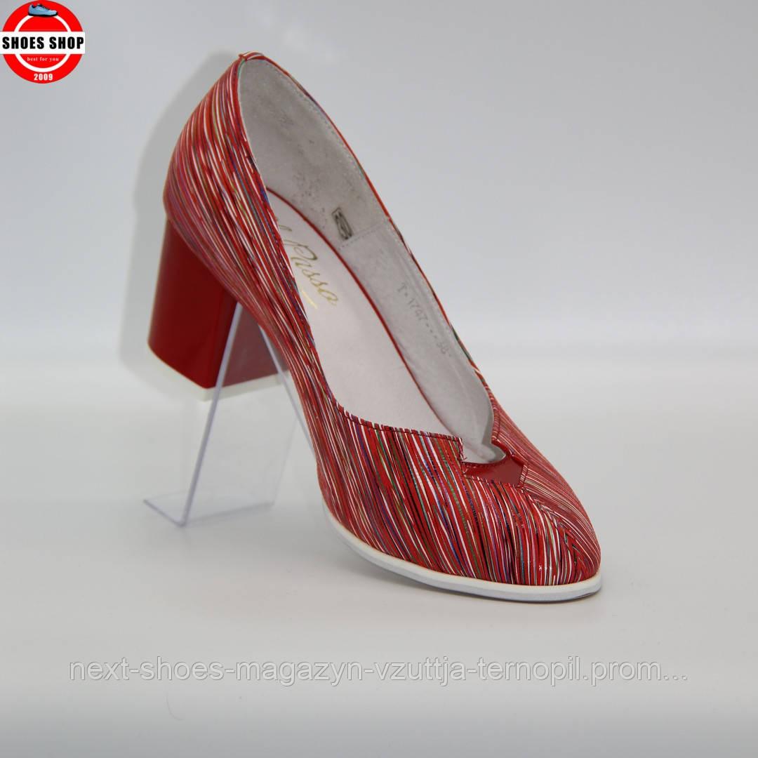 Жіночі туфлі El Passa (Україна) червоного кольору. Красиві та зручні. Стиль: Уна Чаплин