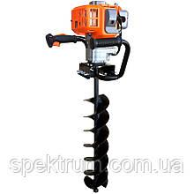 Ручной бензиновый мотобур 3WT-300A, шнек 100 мм, для земляных работ