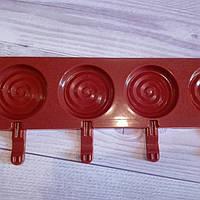 Силиконовая форма для конфет с палочками Леденец большой