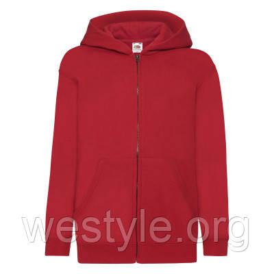 Толстовка на молнии с двойным капюшоном детская - 62045-40 красная