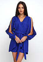 Оригинальный легкий костюм с шортами и асимметричной блузкой Niel
