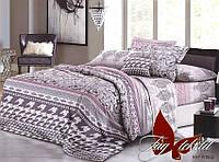 Комплект постельного белья семейный с 2-мя пододеяльниками Поликоттон TAG XHY1602