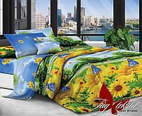 Комплект постельного белья семейный с 2-мя пододеяльниками Поликоттон TAG XHY1944