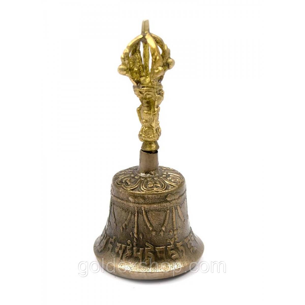 """Колокол чакровый поющий """"бронзовый"""" (диаметр 5 см) (Непал)"""