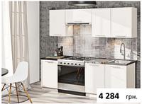 Кухня Эко 1,8м белая