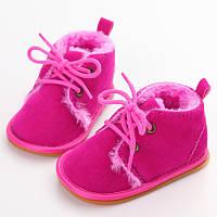 Теплые пинетки-ботиночки 13 см., фото 1