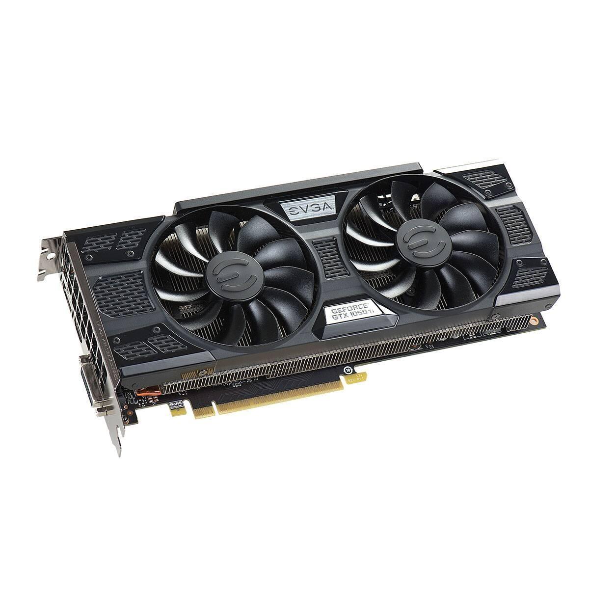 """Видеокарта EVGA GeForce GTX 1050 Ti FTW GAMING ACX 3.0 (04G-P4-6258-KR) """"Over-Stock"""" Б/У"""