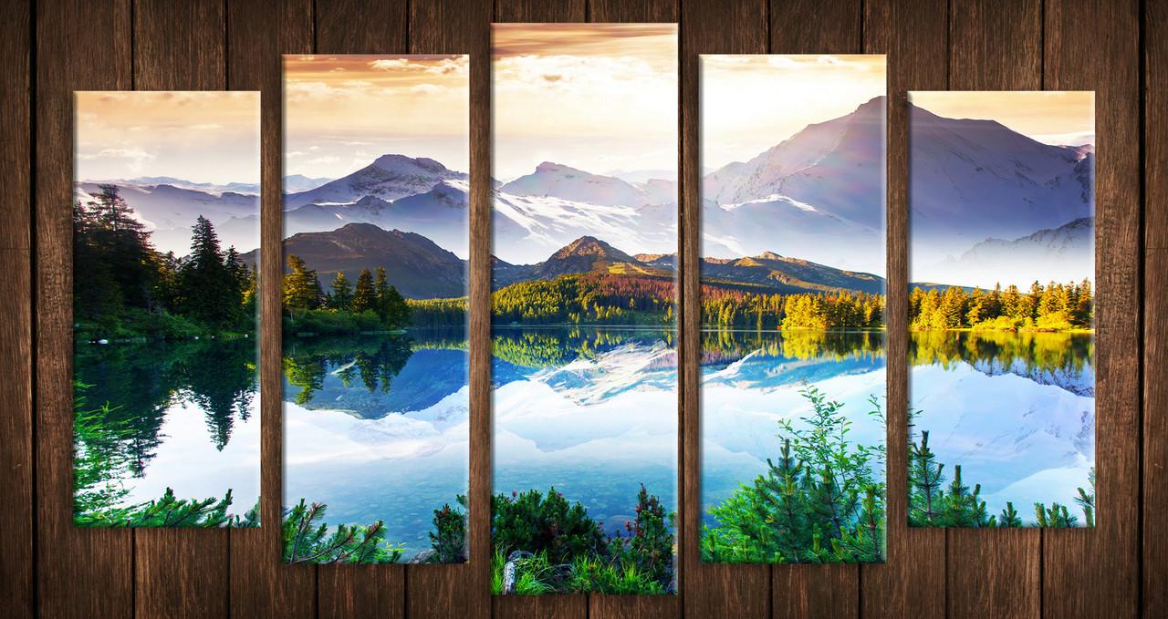 """Модульная картина на холсте """"Альпийские горы"""""""