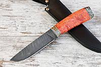 """Нож ручной работы """"Грибник"""" из дамасской стали"""