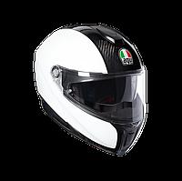 Мотошлем AGV Sportmodular Carbon (белый)