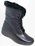 Ботинки женские зима большого размера из натуральной кожи от производителя модель В06086