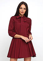 Симпатичное легкое платье  А-силуэта с резинкой по талии и завязками на шее  Castra
