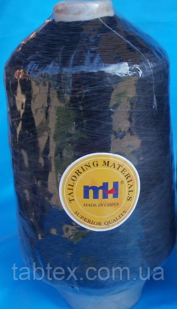 Нитка гумка № 37 чорна 400гр Китай