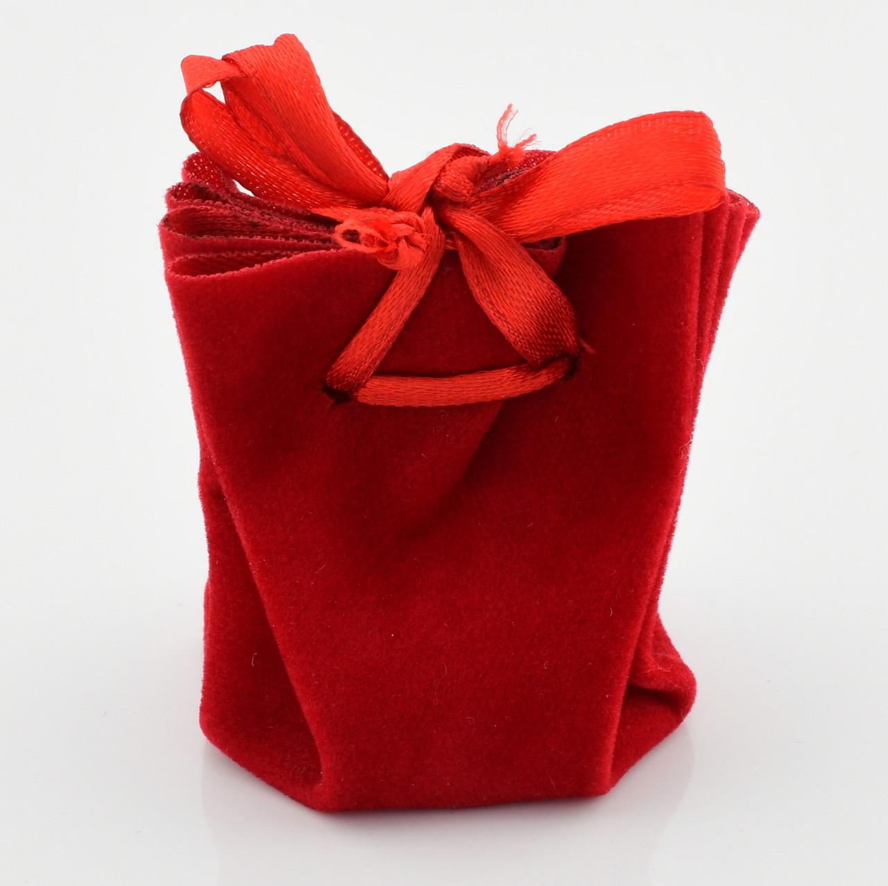 Подарочный мешочек красный 741212 размер 6*5 см