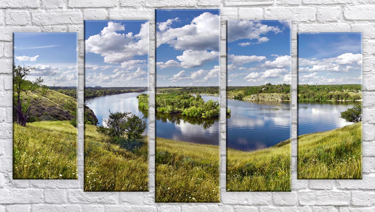 """Модульная картина на холсте """"Украинский пейзаж"""""""