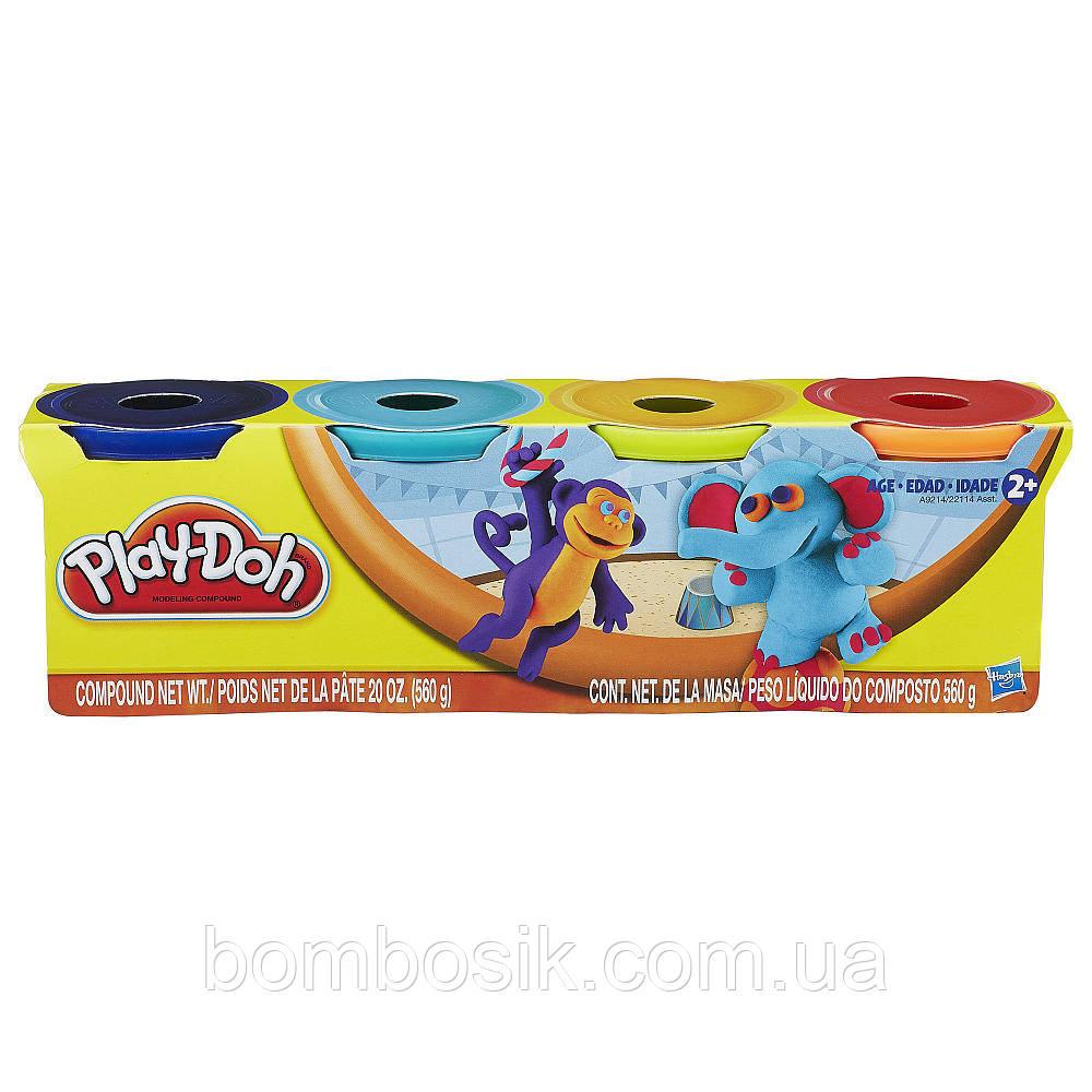 Набір пластиліну з 4-х баночок До Плей Play-Doh