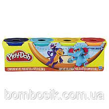 Набор пластилина из 4-х баночек Плей До Play-Doh