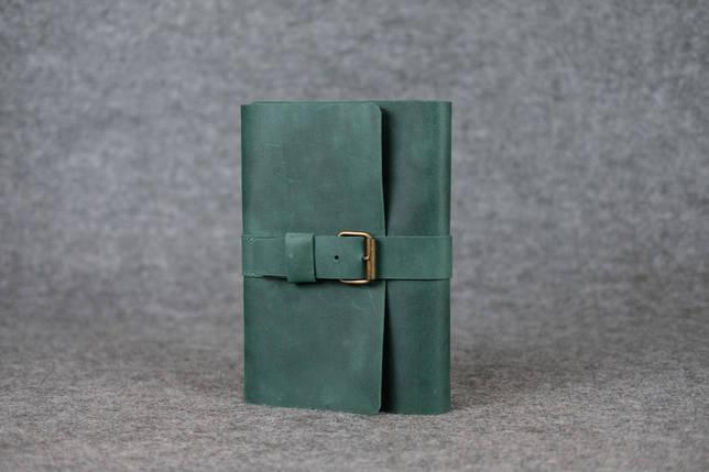"""Обложка для блокнота А5 """"Модель № 3"""" Винтажная кожа цвет Зеленый, фото 2"""