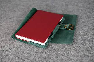 """Обложка для блокнота А5 """"Модель № 3"""" Винтажная кожа цвет Зеленый, фото 3"""