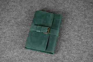 """Обкладинка для блокнот А5 """"Модель № 3"""" Вінтажна шкіра колір Зелений, фото 2"""
