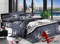 Комплект постельного белья Ранфорс семейный 2 пододеяльника TAG R7363