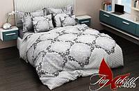 Полуторный комплект постельного белья ранфорс TAG R4050