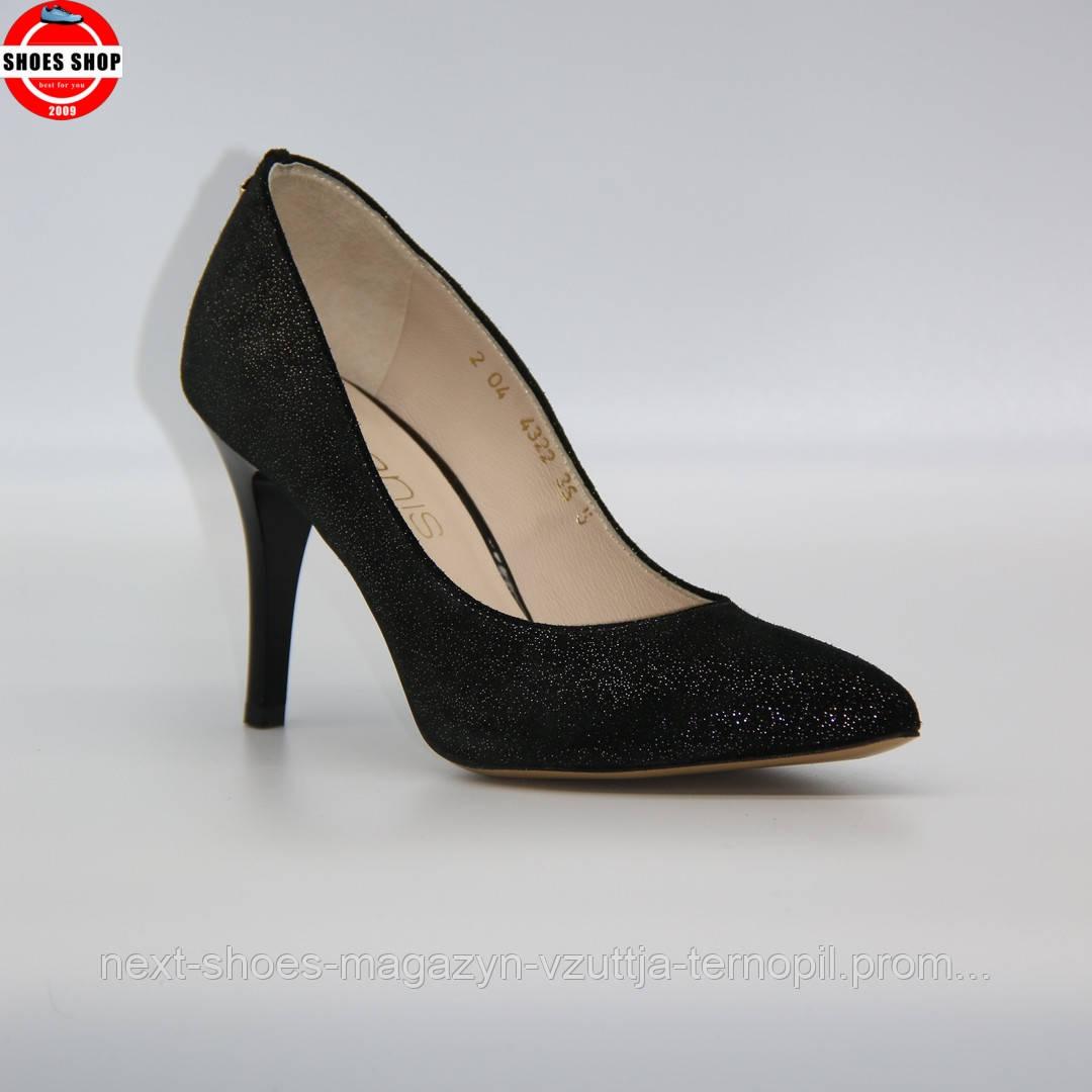 Жіночі туфлі Anis (Польща) чорного кольору. Красиві та комфортні. Стиль: Стейсі Фергюсон