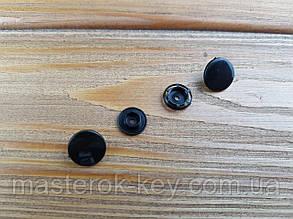 Кнопка пластиковая Т-8 d12,5 мм цвет черный (100 шт в упаковке)