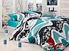 Комплект постельного белья Ранфорс семейный 2 пододеяльника TAG R6958 blue