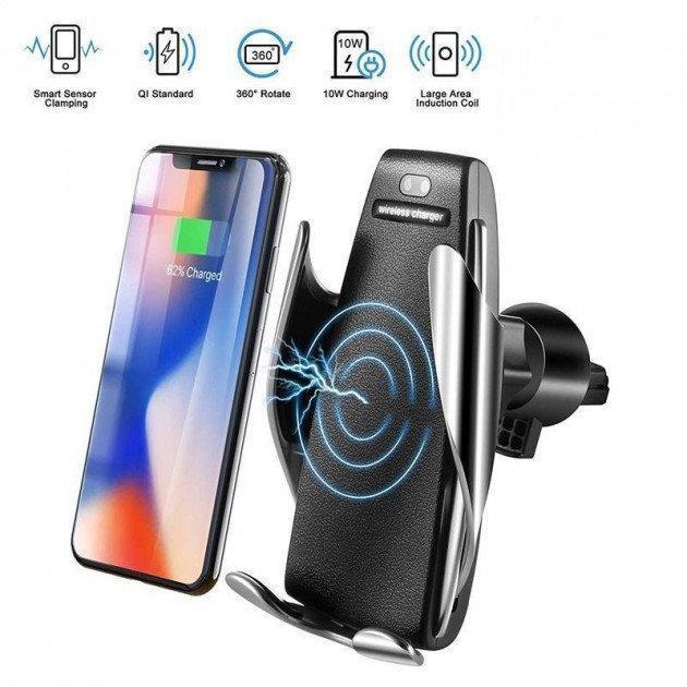 Автомобильный держатель для телефона сенсорный Smart Sensor S5 c беспроводной зарядкой 10w