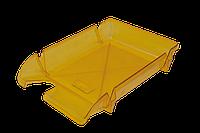 Лоток горизонтальный Арника Компакт пластиковый лимонный