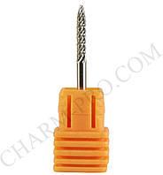 Твердосплавная фиссурная фреза UNC M 2мм. для спиливания натуральных ногтей при проведении коррекции