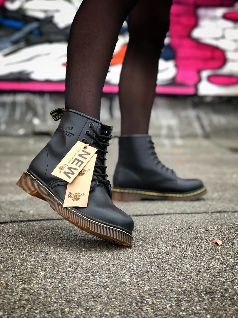 Женские ботинки Dr.Martens (Black), черные мартенсы, женские черные мартенс