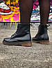 Женские ботинки Dr.Martens (Black), черные мартенсы, женские черные мартенс - Фото