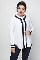 Женская белая блуза больших размеров