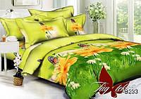 Комплект постельного белья Евро TAG polysatin PS-B233