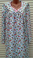 Теплая ночная рубашка из фланели 56 размер, фото 1
