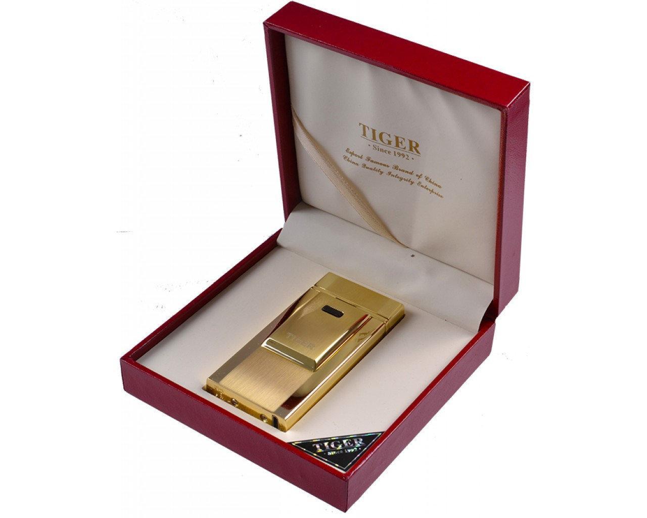 Зажигалка электроимпульсная USB TIGER Gold арт.4686-gold