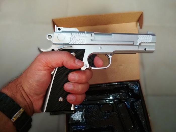Страйкбольный пистолет Браунинг G.20S Silver (Browning HP)