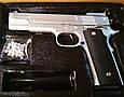 Страйкбольный пистолет Браунинг G.20S Silver (Browning HP), фото 2