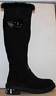 Сапоги высокие замшевые зимние от производителя модель УН511, фото 1