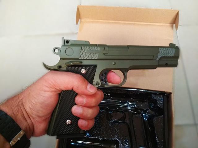 Страйкбольный пистолет Браунинг G.20G Green (Browning HP) купить