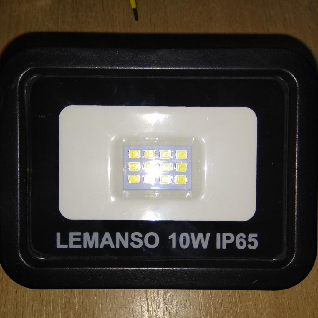 Прожектор LED 10w 6500K IP65 700LM LEMANSO чёрный/ LMP15-10