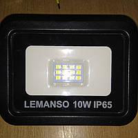 Прожектор LED 10w 6500K IP65 700LM LEMANSO чёрный/ LMP15-10, фото 1