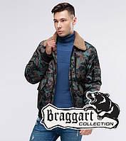 Камуфляжный мужской бомбер Braggart Youth демисезонный цвет хаки