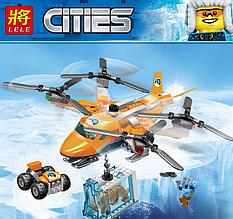 Конструктор Lele 28023 Cities- Арктический вертолет (аналогLego City 60193) 296деталей