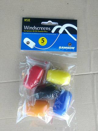SAMSON WS5E-Set Ветрозащита миниатюрная  для радиосистем с передатчиками (комплект из 5 шт. различных цветов), фото 2